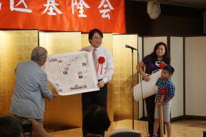 当時の基隆が詳細に書かれている地図を基隆会に贈呈