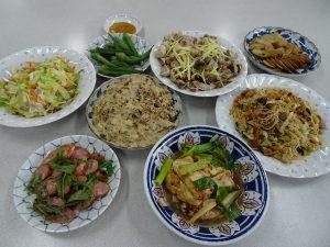 客家燒豆腐、梅干絞肉、再加上客家桐花享苑主宰張明慧老師所準備的多樣台菜,人人大快朵頤
