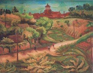 陳澄波作「淡水中学」1936年