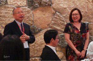 《台灣新聞》社長錢妙玲出席懇親餐會,鼓勵到日參訪的學子