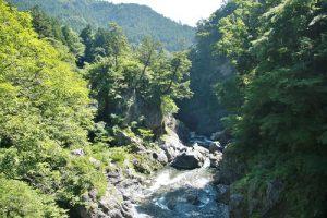 鳩之巢的溪谷景色也是觀光客經常造訪之地