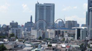 房間陽台可遠眺後樂園摩天輪及東京塔
