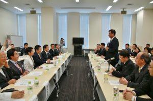 立法院長蘇嘉全表示盼日本也能派曾任總理級的人物至台灣當大使