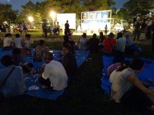 大阪城公園賞月大會 氣氛溫馨