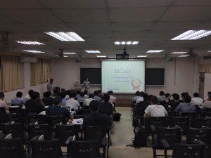 台北大学での講演