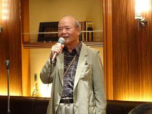 駐大阪辦事處前處長、現中華民國工商協進會國際事務委員會顧問吳嘉雄因事造訪大阪,應邀到場與會員敘舊。