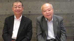 日本中華聯合總會毛友次會長與駐日副代表郭仲熙合影