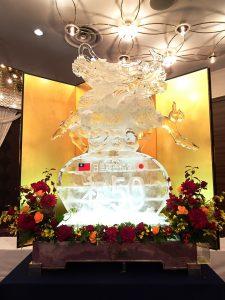 大型冰雕為祝賀會添光彩