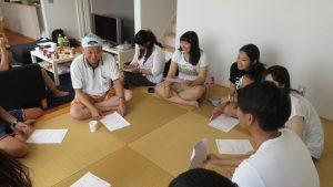 右起 千葉台商部副會長鍾幸昌帶領青年部進行議程