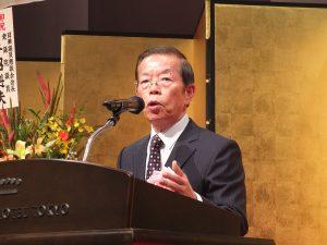 「日台の関係を運命共同体に近づけたい」と述べた謝長廷代表