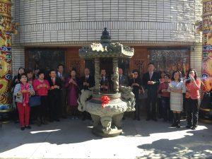 謝長廷吳新興及日本各僑領至媽祖廟參拜