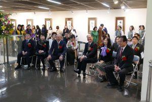 星雲法師一筆展開幕式於11月8日在神奈川縣縣民會館舉行。