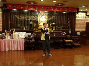 國際佛光會大阪協會會長潘振興感謝各界的護持