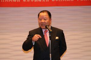 日本中華聯合總會名譽總會長詹德勳帶領乾杯