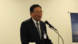主催者挨拶に立った東京スター銀行取締役会長の江丙坤氏