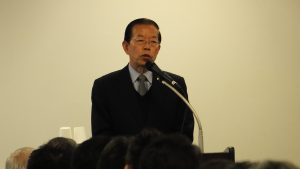 来賓として登壇した台北駐日経済文化代表処の謝長廷代表