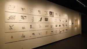 ユーモアも散りばめられた曽霆羽さんの作品には、日本に関する絵もちらほら