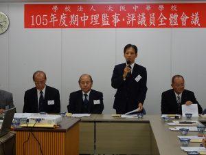 駐大阪辦事處處長陳訓養感謝各界為僑校的付出
