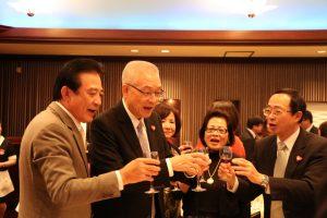 前副總統吳敦義在晚會中與日本僑界互動