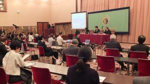 台南市長賴清德以「新時代的台日交流— 因震災而連結的台灣和日本」為題發表演講