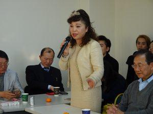 榮譽會長謝美香歡迎千葉台灣商會來訪,盼各地商會加強商機交流,一同擦亮日本台商的招牌。