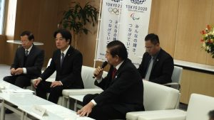 賴清德拜會東京都議會議長川井重勇(右)
