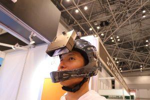 天蜻工坊針對極限運動族群開發頭盔顯示器,在工地和交通上也都可運用