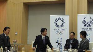 台南市長賴清德與東京都知事小池百合子(右)進行會談