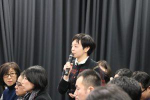 台灣旅日作家溫又柔向甘耀明提問