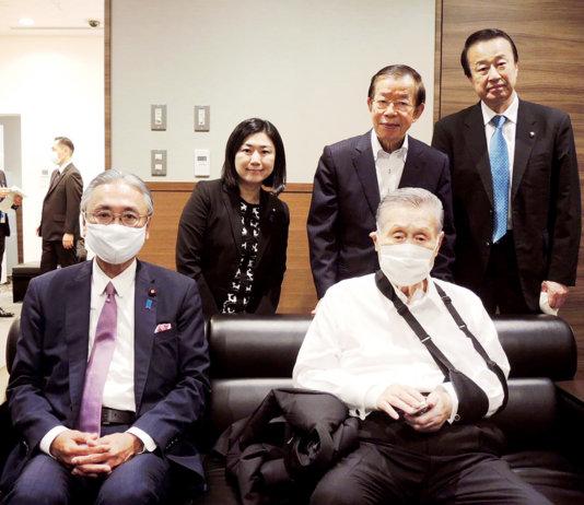 森喜朗前首相再度率團訪台(截自古屋臉書)